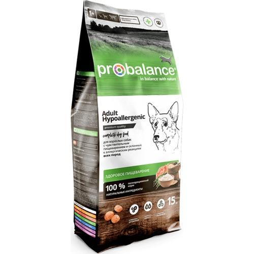 Probalance Hypoallergenic 15кг. сухой корм, для собак склонных к аллергии.